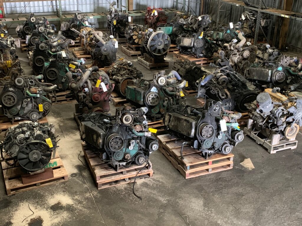 engines on pallets