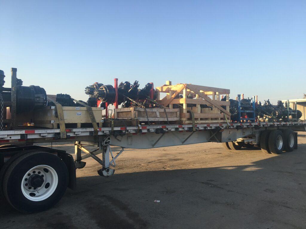 heavy duty parts on a semi truck